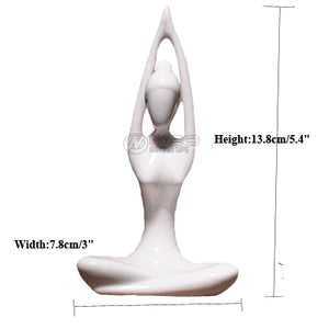 ERMAKOVA Abstract Art Ceramic Yoga Poses Figurine Porcelain Yoga Lady Statue Different Poses Home Yoga Studio Decor Ornament
