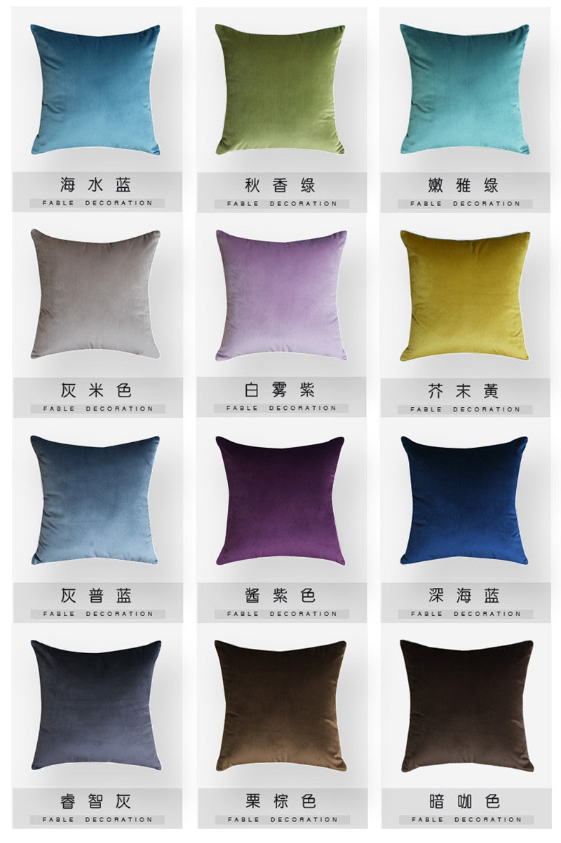 Europe Luxury 1 Pc 45*45cm Home Fashion Chic Cushion Cover Fabric Pillow Case Solid Color Cushion Decorative