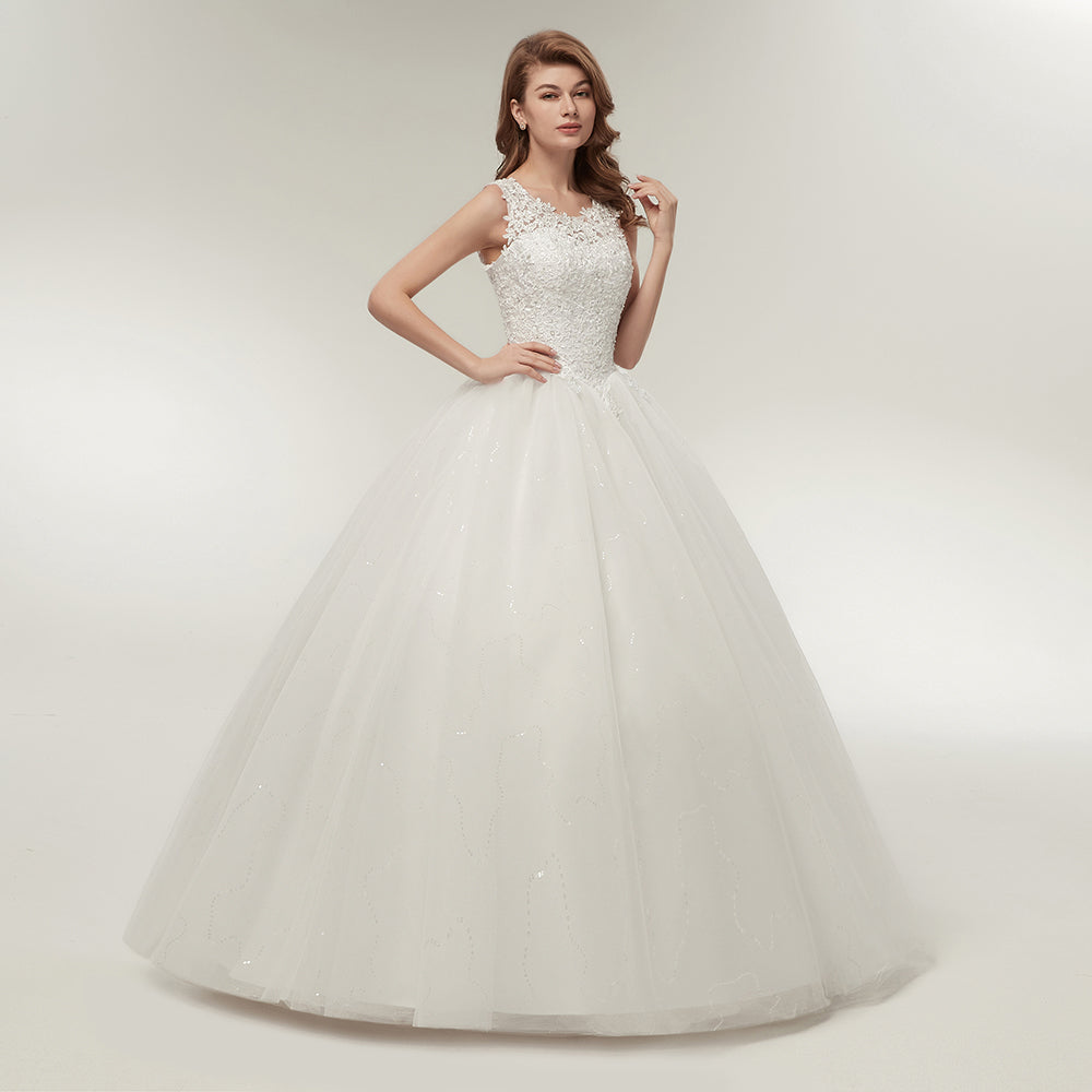 Fansmile Korean Lace Up Ball Gown Quality Wedding Dresses 2017 Alibaba  Customized Plus Size Bridal Dress a3c6d94818d0