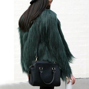 Fashion Winter Women Fur Coat High-grade Women Shaggy Coat Long Sleeve Fluffy Faux Fur Fourrure Female Plus Size Fur Outerwear