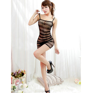 Female Erotic Sexy  Lingerie Net nightie Nightdress Nightwear Crotch Dress Body Stocking Women Intimates
