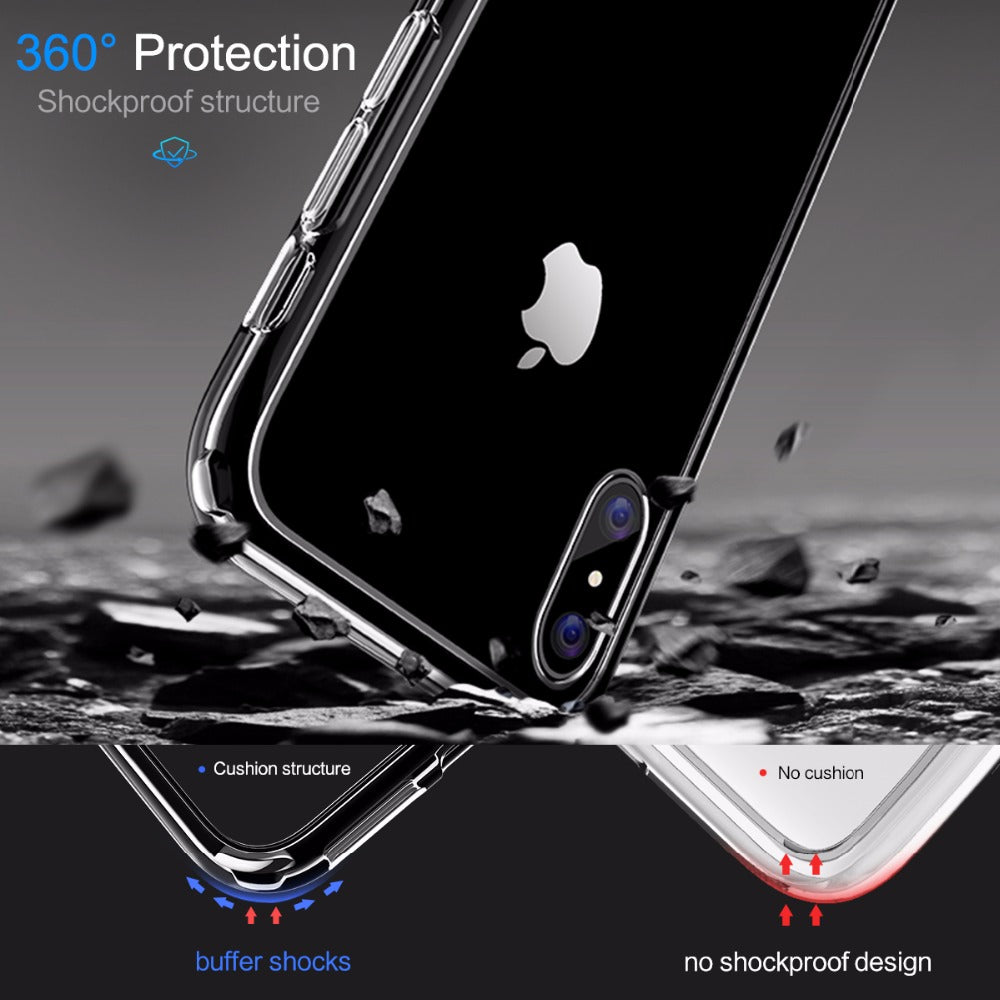 For iPhone X Case,ROCK Slim Case For iPhone X 10 Ultra Thin Capinhas PC & TPU Silicone Cover Capa For iPhoneX  Coque Shell