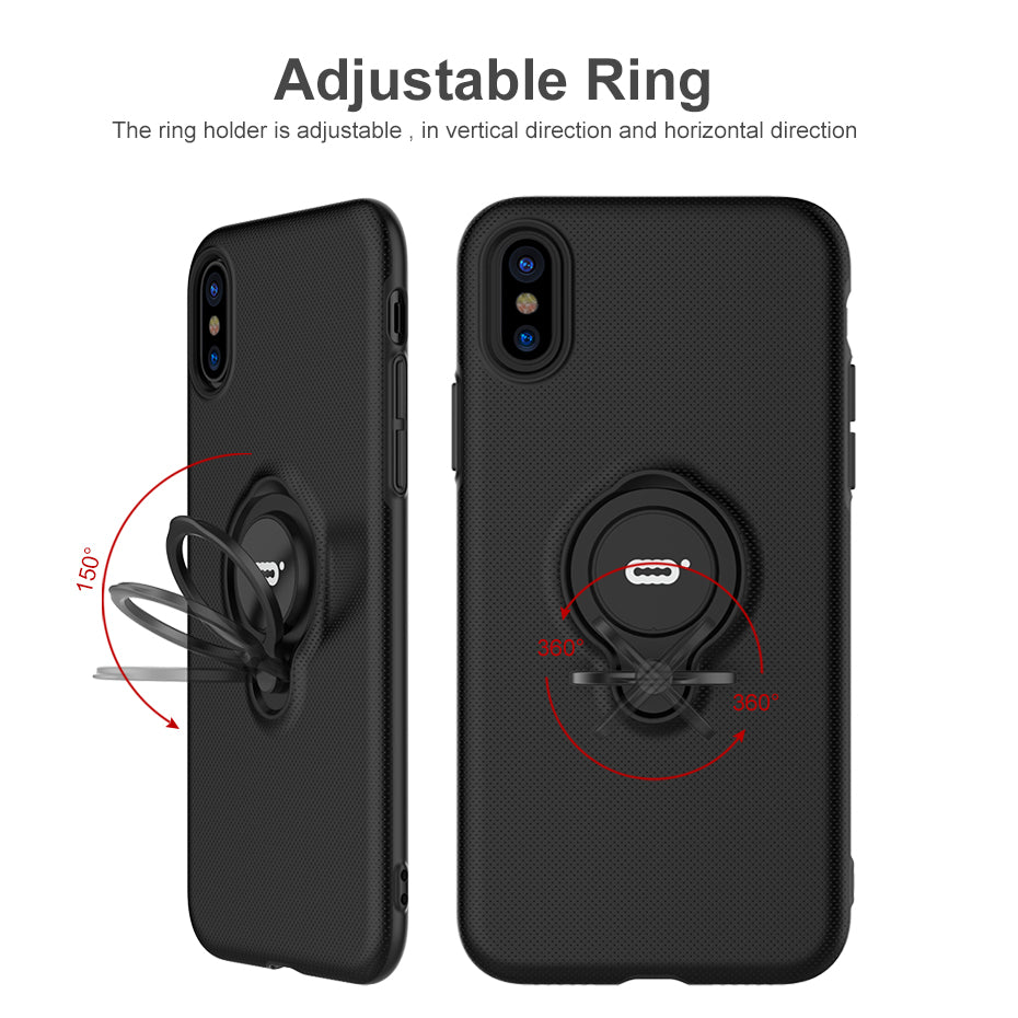 For iphone X case, ICONFLANG Hybrid Case For Apple iPhone X Car Magnetic Shockproof Cover For iPhoneX Phone Cases