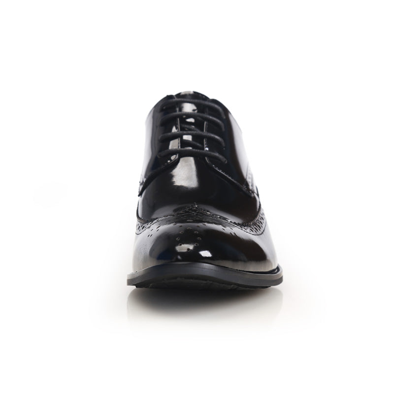 Formal Mens Height Increase Elevator Shoes in Patent Leather Get Taller 7cm Invisibly