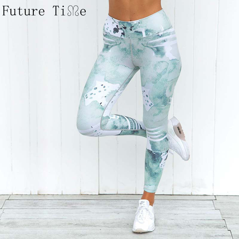 Future Time High Waist Colorful Leggings Women Cat Fitness Legging Push Up Leggings Women Animal Leggins Fashion Slim Pant L0057