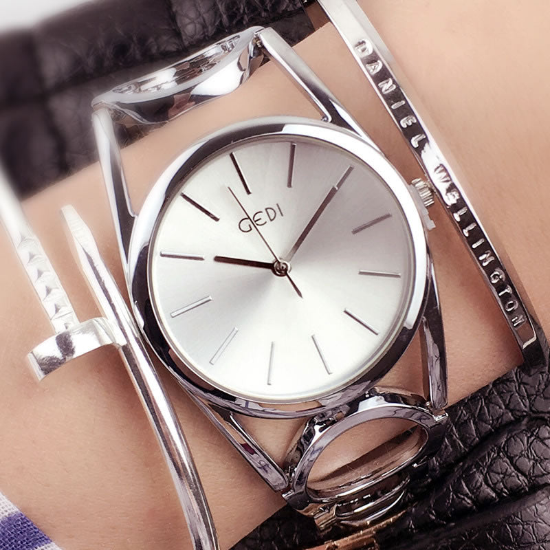GEDI Fashion Rose Gold Bracelet Watches Women Top Luxury Brand Ladies Quartz Watch Famous Wrist Watch Relogio Feminino Hodinky