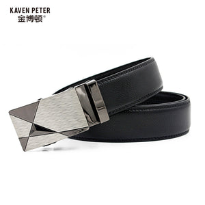 Genuine Leather Male Belt  New Designer Automatic Real Leather Belt  High Quality Luxury Trousers Pants Men Belts