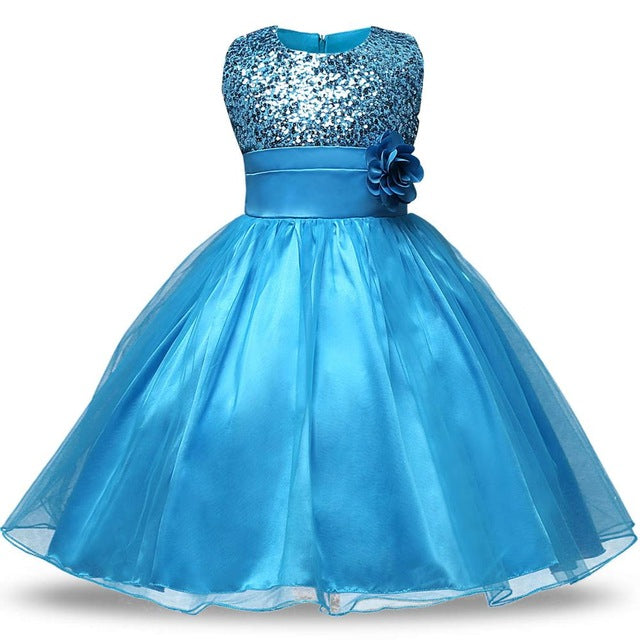 Girls Dresses Children Ball Gown 6 7 8 Birthday Party Princess Wedding Dress Baptism Summer Toddler Girl Dresses Kids Clothes
