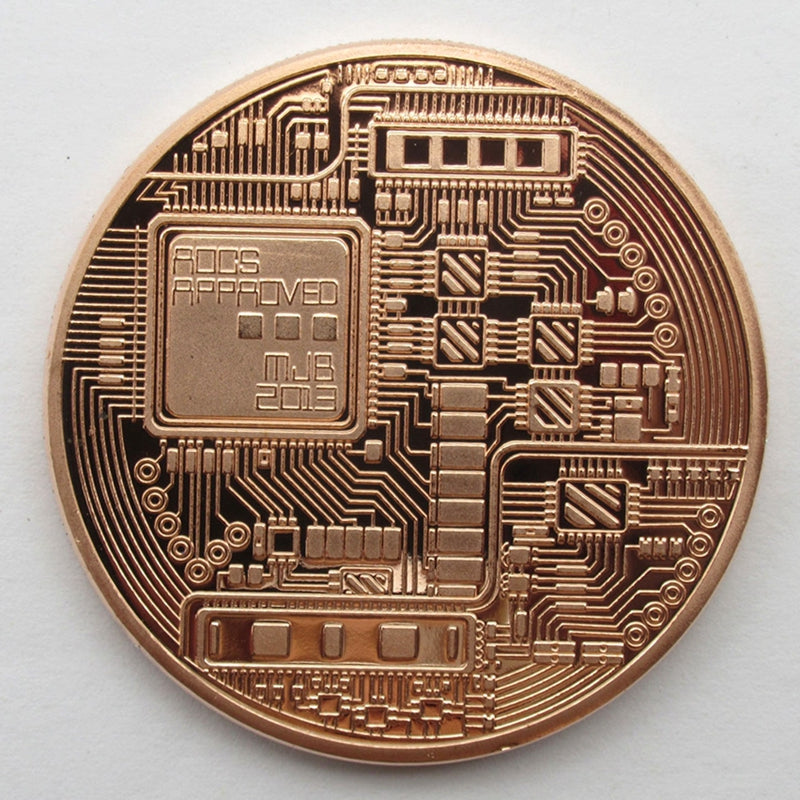 40mm Bitcoin Collectible In Stock Gold Plated Commemorative BTC Coin Gifts Metal