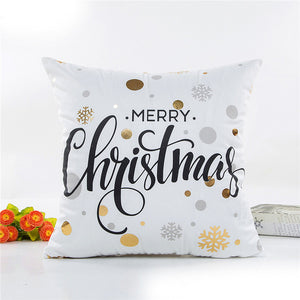 Hyha Xmas Bronzing Cushion Cover Cotton Polyester Christmas Printed Pineapple Tropical Home Decorative Pillows Cover Pillowcase