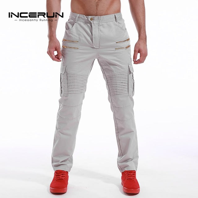 INCERUN Mens Army Military Cargo Pants 2017 Casual Leisure Joggers Trousers Slim Fit Men Male Sweatpants Slacks