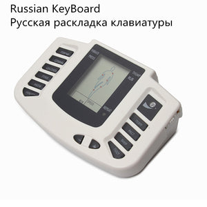 JR-309 Electroestimulador Muscular Body Relax Muscle Massager Pulse Tens Acupuncture Therapy Slipper+8 Pads+box+Russian button