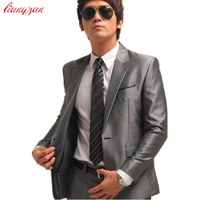 Jacket+Pant+Tie) Men Wedding Suit Sets Tuxedo Formal Fashion Slim ...