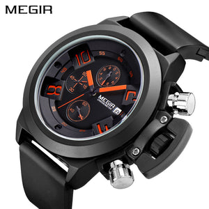 MEGIR Original Watch Men Sport Quartz Men Watches Chronograph Wrist Watch Relogio Time Hour Clock Reloj Hombre Mens Watches