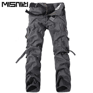 MISNIKI 2017 New Army Military Camouflage Overalls Bags Pants Overalls Big Yards Men Camo Combat Work Trousers Overalls