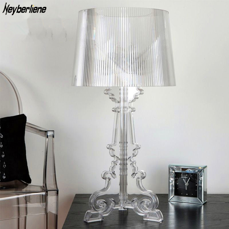 Modern Table lamp Lustre Led Table Lamps For Living Room Bedroom Acrylic Lampshade Abajur Lampara De Mesa Tafellamp Luminaria