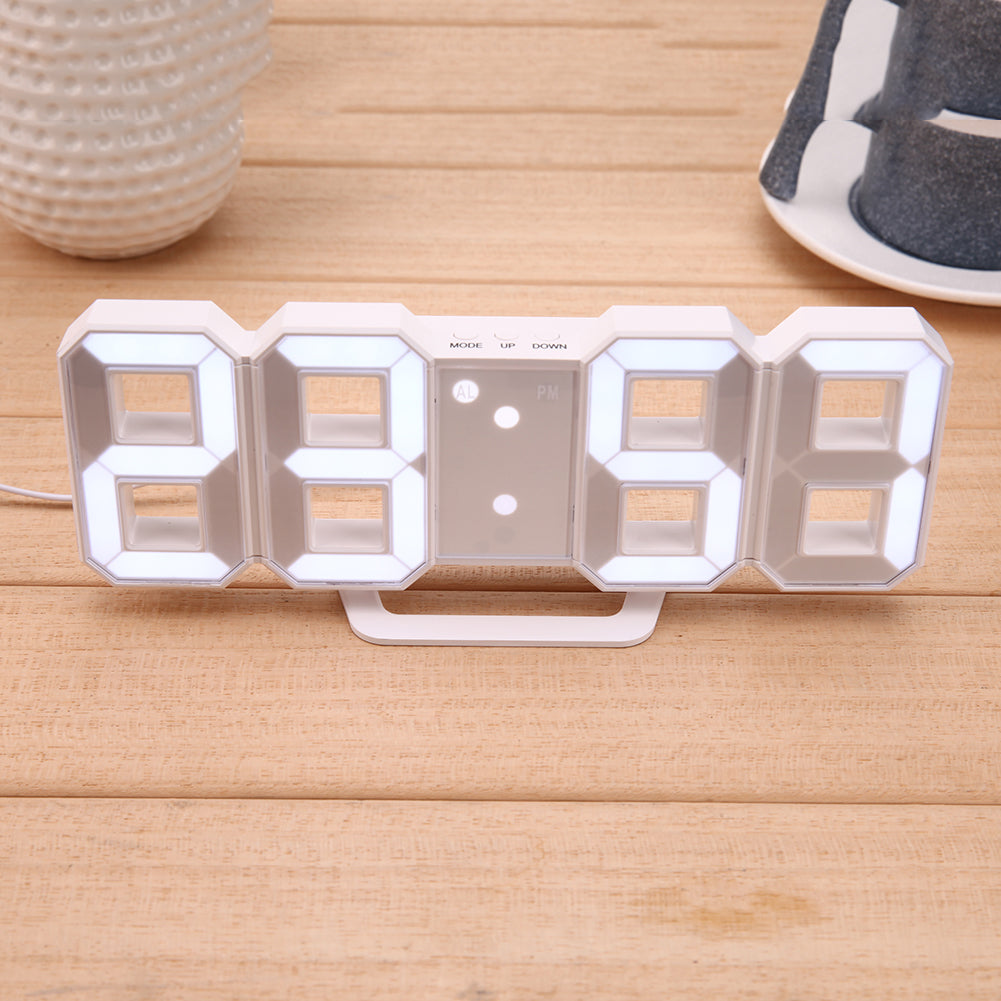 Modern Wall Clock Digital LED Table Clock Watches 24 or 12-Hour Display clock mechanism Alarm Snooze Desk Alarm Clock E5M1