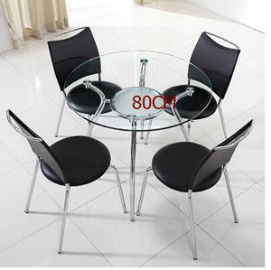 Modern simple tempered glass.. Negotiating table and chair combination.