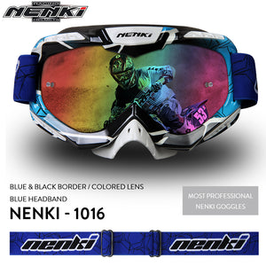 NENKI Lunettes Motocross Glasses Moto Men Women Motorcycle Goggles Helmet Glasses Off-Road Dirt Bike ATV MX BMX DH MTB Eyewear