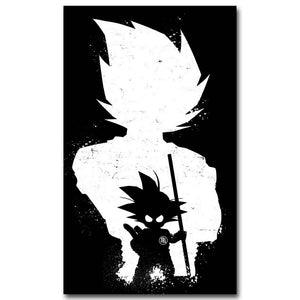 NICOLESHENTING Dragon Ball Z Art Silk Poster Print 12x20 24x40inch New Japanese Anime Wall Pictures for Home Wall Decor 003
