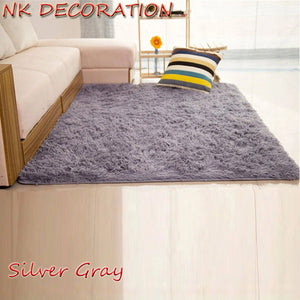 NK DECORATION 120cm*160cm Silver Gray Carpet Bedroom Soft Floor Carpets Warm Colorful Living Room Floor Rugs Slip Resistant Mats
