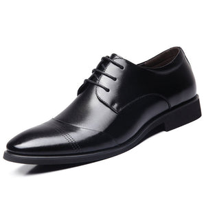 New 2017 Business Dress Men Formal Shoes Wedding Pointed Toe Fashion Genuine Leather Shoes Flats Oxford Shoes For Men BRM-436
