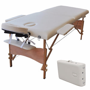"New 84""L Portable Massage Table Facial SPA Bed Tattoo w/Free Carry Case White  HB78775WH"
