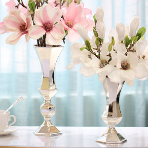 New arrival modern silver vase House decoration Living room tv cabinet decorations Dining table flower holders wedding gifts