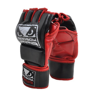 New black Leather Half Finger MMA Boxing boxeo gloves Finger gloves boxing MMA Sanda Muay Thai boxing gloves training fighter