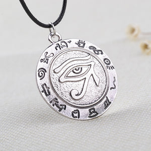 New fashion Eye of Horus Egyptian Sun God Symbol Pendant necklace Rune eye necklaces punk style jewelry for gifts free shipping
