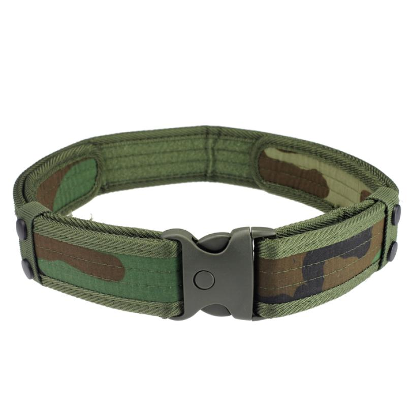 Outdoor Military Men Sports Belts Woodland Camo Waistband Tactical Hunting Outdoor Sport Field Belt Outdoor