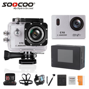 SOOCOO C10 Full-HD Sports Action Camera NOVATEK96655 with Wifi cam 1080p 12MP 1.5 LCD 170 Degree Wide Lens Waterproof 1350mah
