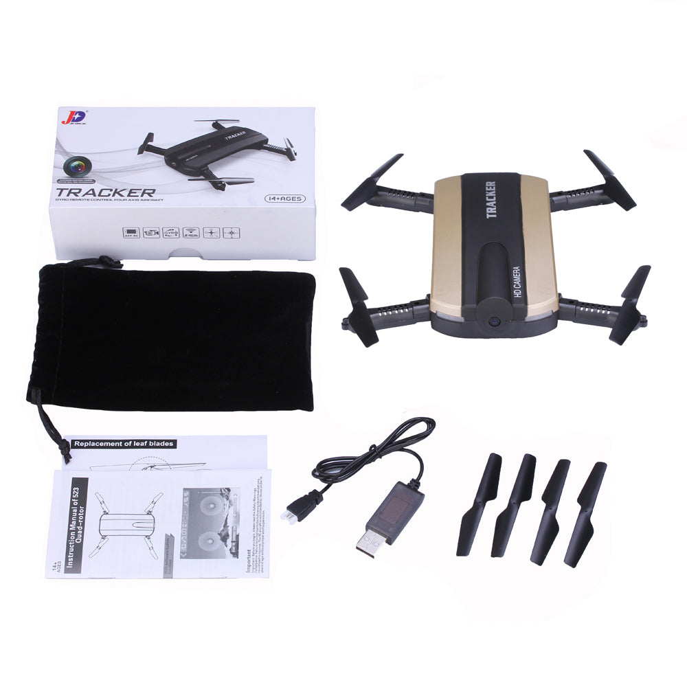 Selfie Drone JXD 523W  JXD 523 Tracker Foldable Mini Rc Drone with Wifi FPV Camera Altitude Hold Headless Mode RC Helicopter