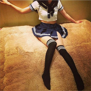 Sexy Japanese School Girl students Sailor Lingerie Uniform Cosplay Outfit Dress Uniform temptation