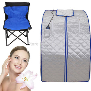 (Ship from USA) Portable FIR FAR Infrared Sauna with Remote &Foot Heating Pad Slimming Lose Weight
