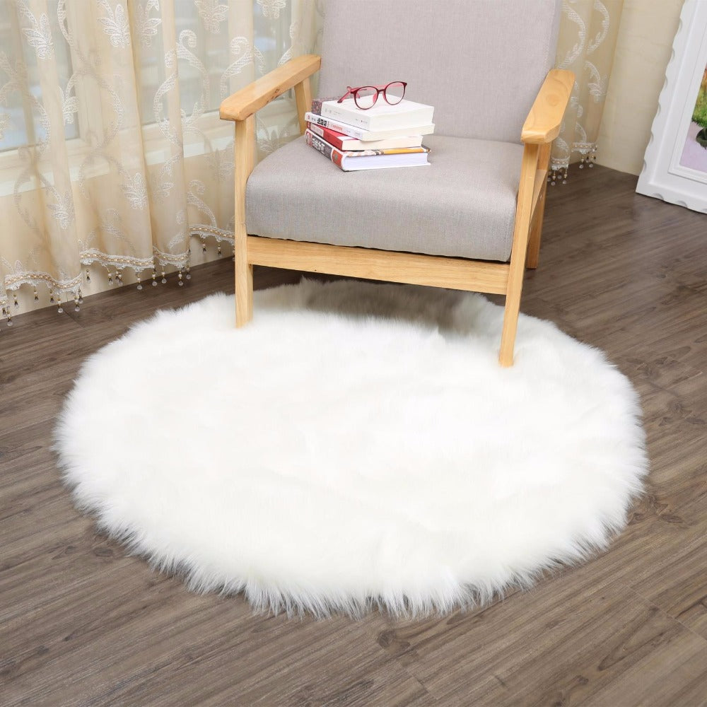 Simanfei Hairy Carpets 2017 New Sheepskin Plain Fur Skin Fluffy Bedroom Faux Mats Washable Artificial Textile Area Rugs Square