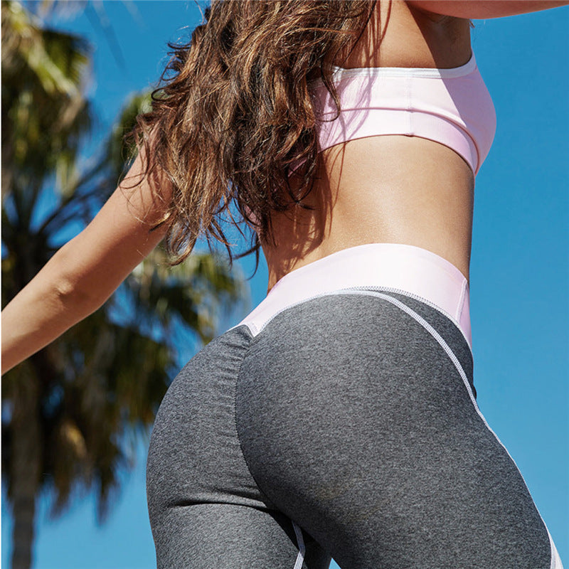 Simenual 2017 Hot sale patchwork heart hip leggings sportswear for women bodybuilding grey slim sexy legging female pants sale
