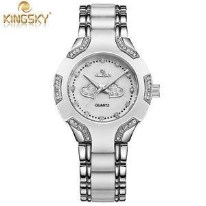 Special Offer Watch Women Gold  Fashion Casual Luxury Brand  KINGSKY  Ladies Quartz-Watch Relojes Mujer 2016 Relogio Feminino