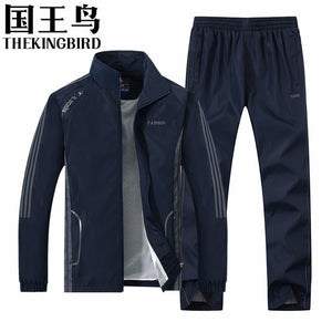 Spring and Autumn sport suit Men's sportswear Long sleeve Thin section basketball soccer jogging rugby Men's Running clothes