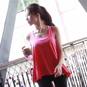 Summer Sexy Women Tank Tops Female Dry Quick Loose Fitness Vest Singlet for Exercise Women's Workout T-Shirts Back Knot 1060