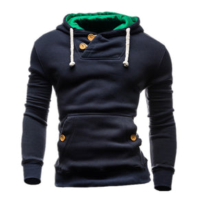T-bird Sweatshirts Men 2017 Brand Hoodie Decorative Buttons Fashion Hip Hop Mens Hoodies  Autumn Winter Pullover Male Sportswear