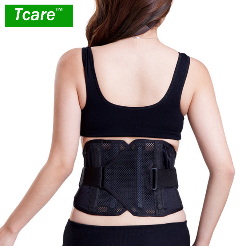 * Tcare 1pcs Posture Corrector Waist Trainer Elastic Waist Support Brace Waist Care Belt Braces With Warm Waist Health Care Tool