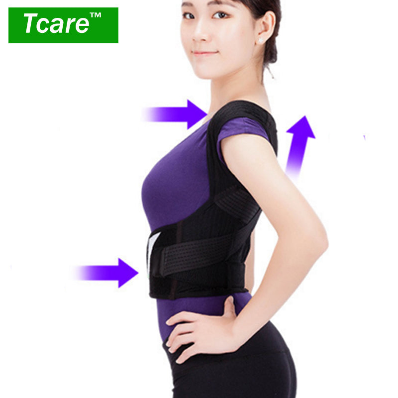 * Tcare Posture Correction Waist Shoulder Chest Back Support Brace Corrector Belt for Women Men Size S/M/L/XL/XXL Health Care