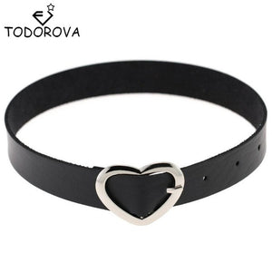 Todorova Leather Choker Necklace Gothic Steam Punk Rock Collar Statement Jewelry Necklaces & Pendant Womens Clothing Accessories