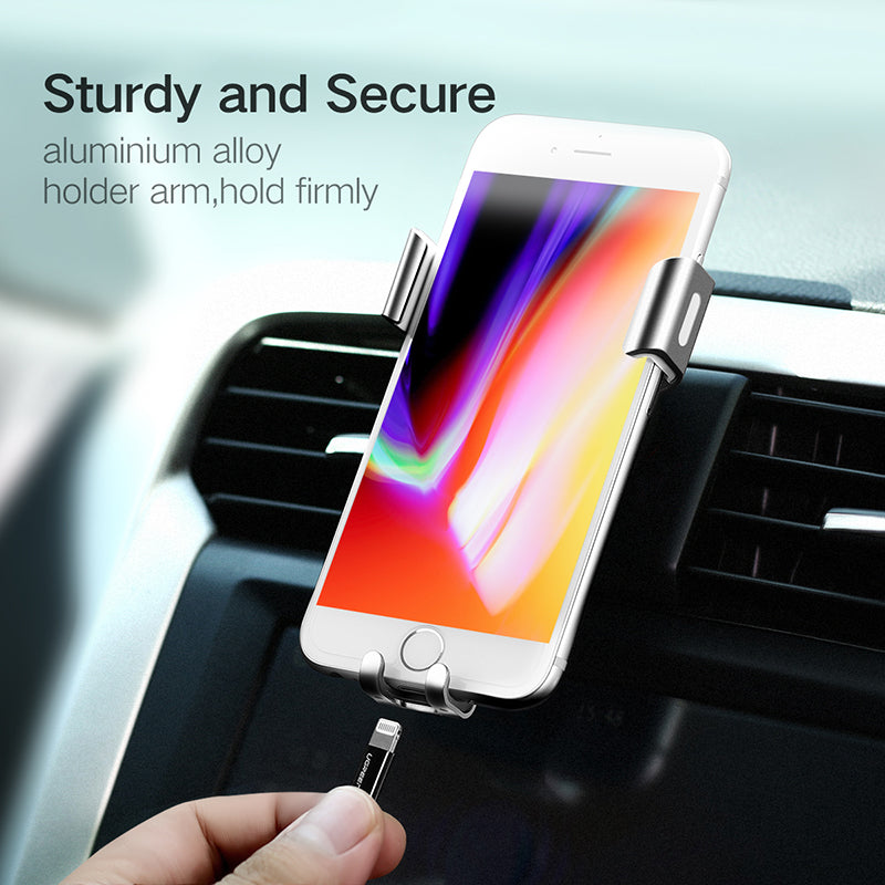 Ugreen Gravity Reaction Car Phone Holder Air Vent Mount Clip Mobile Phone Holder Stand for iPhone X 8 7 Samsung S8/7 Xiaomi GPS