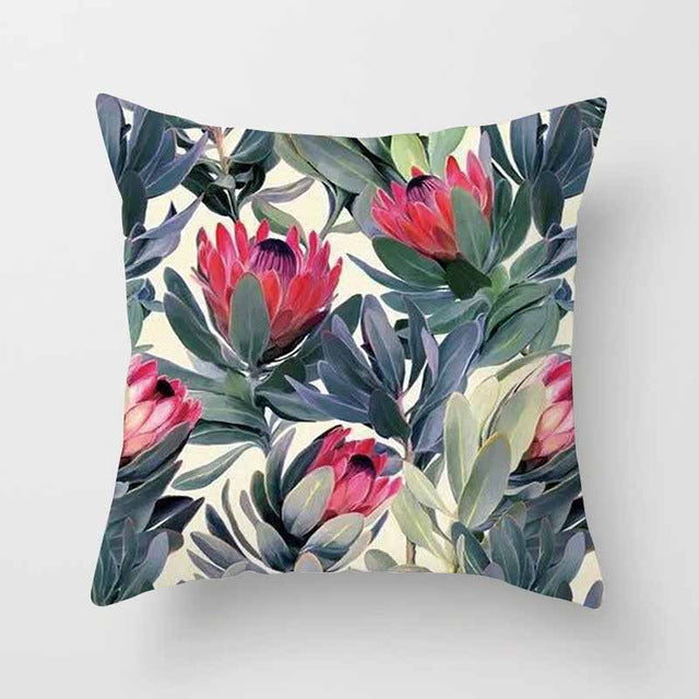 Vintage Flower Tropical Leaves Waist 45*45cmThrow Pillow Cover Home Decor Cushion Cover Decorative Pillowcase