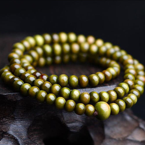 Vintage Sandalwood Buddhist Buddha Meditation  6mm 108 beads Wood Prayer Bead Mala Bracelet Women Men jewelry