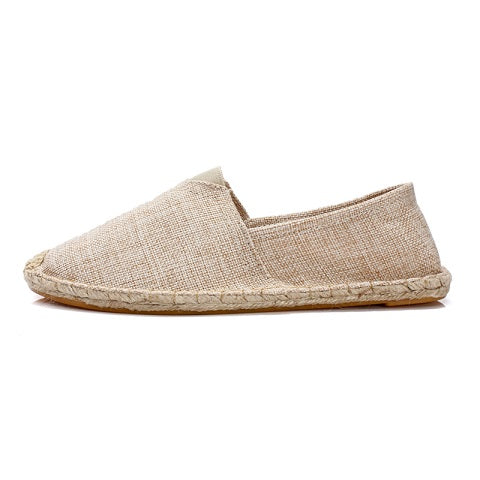 WOLF WHO Large Size Summer Shoes Men Casual Shoes Unisex Canvas Espadrilles Shoes Breathable Slip on Footwear Size 35-45 Loafers