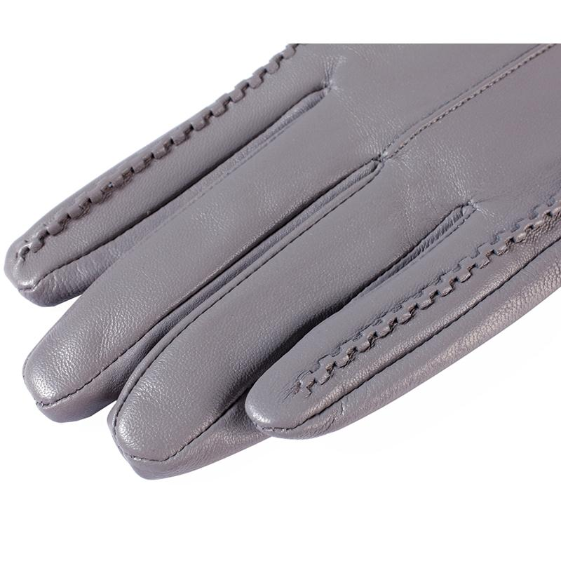 Women's Gloves,Genuine Leather,Length 25 cm,Gray leather gloves,Ladies gloves,Female gloves,Free shipping