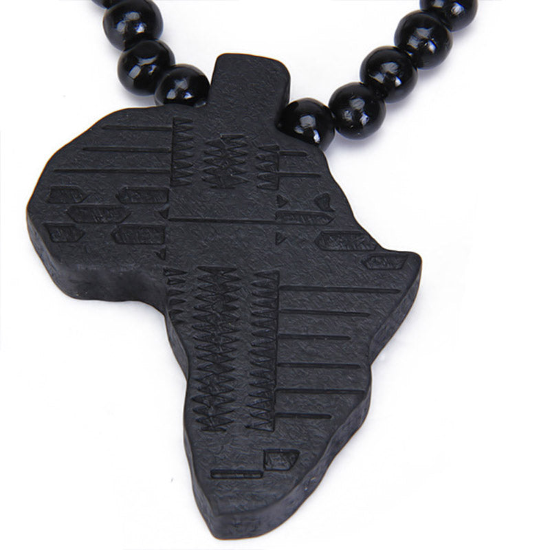 Wooden Africa Pendant Necklace for Halloween Party 2016 Newest Arrival ee